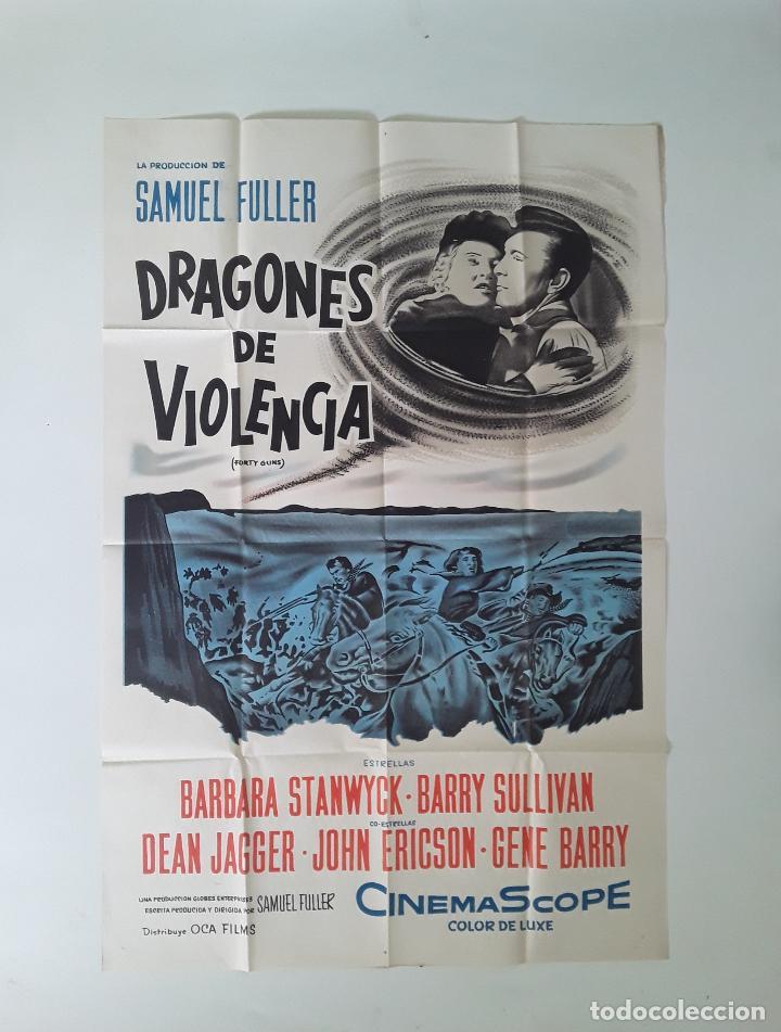 CARTEL ORIGINAL LITOGRAFICO CUARENTA PISTOLAS 75 X 110 CM SAMUEL FULLER BARBARA STANWYCK (Cine - Posters y Carteles - Acción)