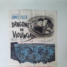 Cine: CARTEL ORIGINAL LITOGRAFICO CUARENTA PISTOLAS 75 X 110 CM SAMUEL FULLER BARBARA STANWYCK. Lote 269006574
