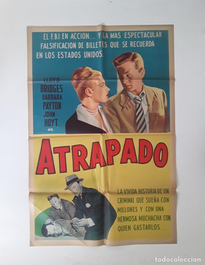 CARTEL ORIGINAL LITOGRAFICO ATRAPADO - 1949 LLOYD BRIDGES FILM NOIR 75 X 110 CM (Cine - Posters y Carteles - Acción)