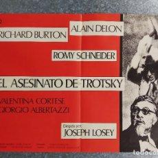 Cine: EL ASESINATO DE TROTSKY. RICHARD BURTON, ALAIN DELON, ROMY SCHNEIDER. POSTER ORIGINAL. 70 X 50 CM. Lote 269112268