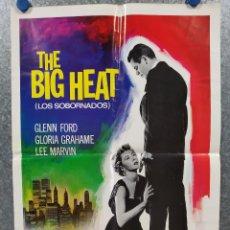 Cine: LOS SOBORNADOS , THE BIG HEAT. GLENN FORD, GLORIA GRAHAME. AÑOS 80 . POSTER ORIGINAL. 70 X 50 CM. Lote 269112863