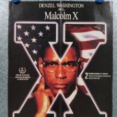 Cine: MALCOLM X. DENZEL WASHINGTON, ANGELA BASSETT. POSTER ORIGINAL. 65 X 45 CM. Lote 269115188