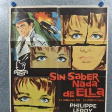 Cine: SIN SABER NADA DE ELLA. PHILIPPE LEROY, PAOLA PITAGORA. AÑO 1970. POSTER ORIGINAL. Lote 269115943