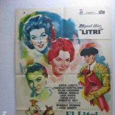 Cine: EL LITRI Y SU SOMBRA - POSTER CARTEL ORIGINAL - MIGUEL BAEZ KATIA LORITZ RAFAEL GIL TOROS JANO - L. Lote 269119773