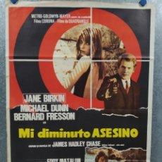 Cine: MI DIMINUTO ASESINO. JANE BIRKIN, MICHAEL DUNN, BERNARD FRESSON AÑO 1970. POSTER ORIGINAL. Lote 269123668