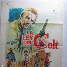 Cine: LA LEY DEL COLT - POSTER CARTEL ORIGINAL - ANGEL DEL POZO LUCY GULLY AL BRADLEY SPAGHETTI - JANO - L. Lote 269124733