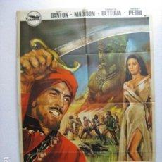 Cine: EL LEOPARDO DE SARAWAK SANDOKAN - POSTER CARTEL ORIGINAL - RAY DANTON GUY MADISON FRANCA BETTOIA - L. Lote 269125598