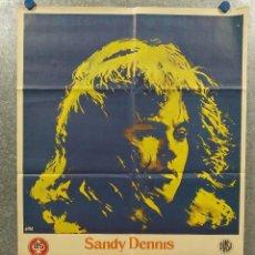Cine: SU VIDA ÍNTIMA. SANDY DENNIS, IAN MCKELLEN, ELEANOR AÑO 1971. POSTER ORIGINAL. Lote 269126013