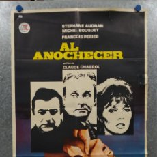 Cine: AL ANOCHECER. HENRI ATTAL, STÉPHANE AUDRAN, MICHEL BOUQUET. AÑO 1971. POSTER ORIGINAL. Lote 269130138