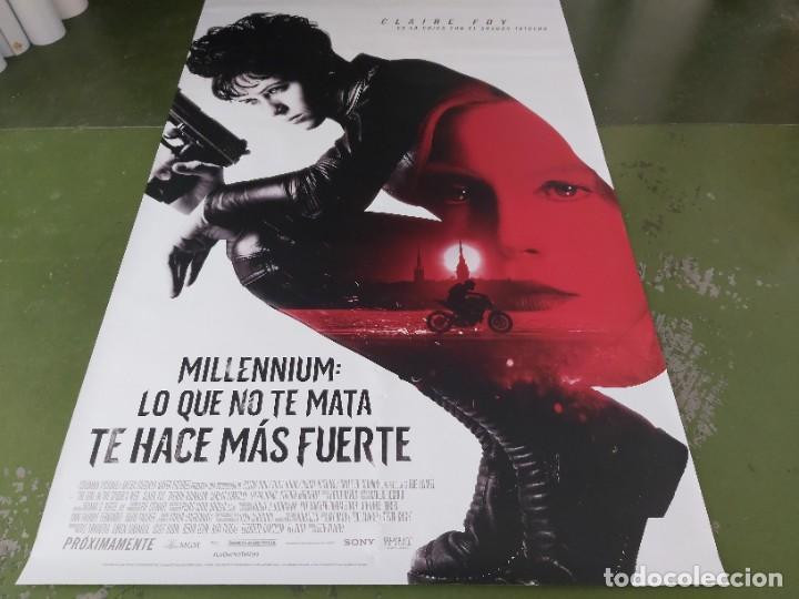 MILLENNIUM, LO QUE NO TE MATA TE HACE MÁS FUERTE - APROX 120X210 LONA/BANNER ORIGINAL CINE (X147) (Cine - Posters y Carteles - Suspense)