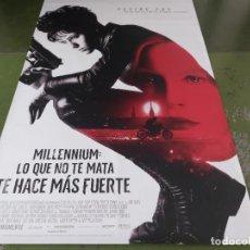 Cine: MILLENNIUM, LO QUE NO TE MATA TE HACE MÁS FUERTE - APROX 120X210 LONA/BANNER ORIGINAL CINE (X147). Lote 269168158