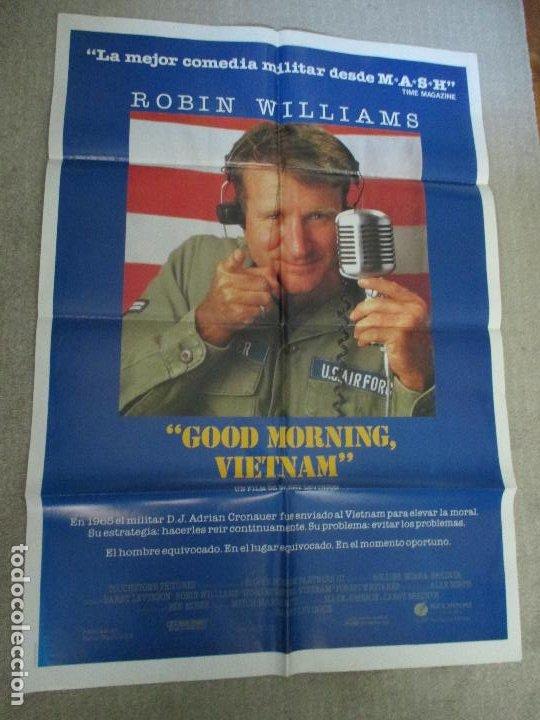 GOOD MORNING VIETNAM, ROBIN WILLIAMS, DE BARRY LEVINSON, 1987 (Cine - Posters y Carteles - Bélicas)