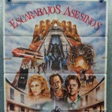 Cine: ESCARABAJOS ASESINOS. RIP TORN, ROBERT GINTY, CRISTINA SÁNCHEZ PASCUAL. AÑO 1982. POSTER ORIGINAL. Lote 269379788