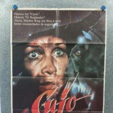 Cine: CUJO. DEE WALLACE, DANIEL HUGH KELLY, DANNY PINTUARO. AÑO 1983. POSTER ORIGINAL. Lote 269380068