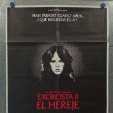 Cine: EL EXORCISTA 2: EL HEREJE. LINDA BLAIR, RICHARD BURTON. AÑO 1977. POSTER ORIGINAL. Lote 269380443