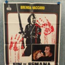Cine: FIN DE SEMANA SANGRIENTO. BRENDA VACCARO, DON STROUD, CHUCK SHAMATA AÑO 1977 POSTER ORIG. Lote 269382403
