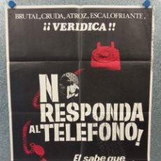 Cine: NO RESPONDA AL TELÉFONO. JAMES WESTMORELAND, BEN FRANK. AÑO 1981 POSTER ORIGINAL. Lote 269384058