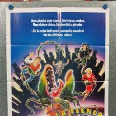 Cine: LA TIENDA DE LOS HORRORES. RICK MORANIS, ELLEN GREENE, STEVE MARTIN. AÑO 1987. POSTER ORIGINAL. Lote 269388238