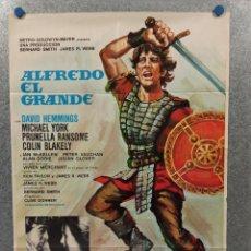 Cine: ALFREDO EL GRANDE. DAVID HEMMINGS, MICHAEL YORK, PRUNELLA RANSOME. AÑO 1973. POSTER ORIGINAL. Lote 269463278