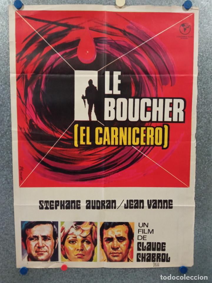 EL CARNICERO. STEPHANE AUDRAN, JEAN VANNE, CLAUDE CHABROL. AÑO 1971. POSTER ORIGINAL (Cine - Posters y Carteles - Suspense)