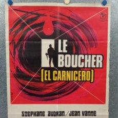 Cine: EL CARNICERO. STEPHANE AUDRAN, JEAN VANNE, CLAUDE CHABROL. AÑO 1971. POSTER ORIGINAL. Lote 269464308