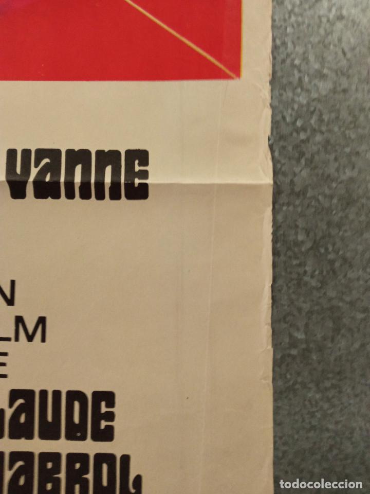 Cine: El carnicero. STEPHANE AUDRAN, JEAN VANNE, CLAUDE CHABROL. AÑO 1971. POSTER ORIGINAL - Foto 7 - 269464308