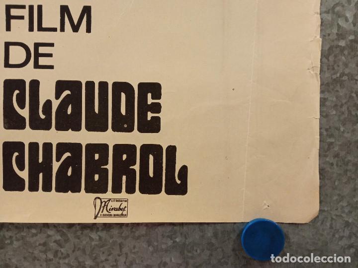 Cine: El carnicero. STEPHANE AUDRAN, JEAN VANNE, CLAUDE CHABROL. AÑO 1971. POSTER ORIGINAL - Foto 8 - 269464308