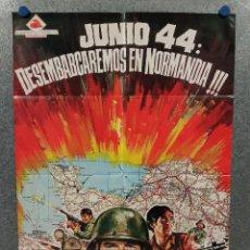 Cine: JUNIO 44: DESEMBARCAREMOS EN NORMANDÍA. MICHAEL RENNIE, BOB SULLIVAN. AÑO 1968. POSTER ORIGINAL. Lote 269464728