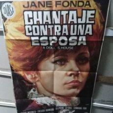 Cine: CHANTAJE CONTRA UNA ESPOSA JANE FONDA POSTER ORIGINAL 70X100 JANO. Lote 269572793