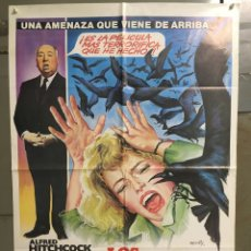 Cine: QP06 LOS PAJAROS ALFRED HITCHCOCK TIPPI HEDREN ROD TAYLOR MATAIX POSTER ORIGINAL 70X100 ESPAÑOL. Lote 269803543