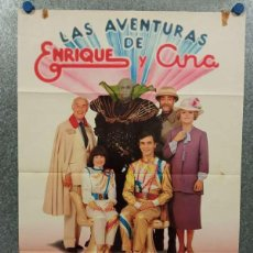 Cine: LAS AVENTURAS DE ENRIQUE Y ANA. ENRIQUE DEL POZO, ANA ANGUITA. AÑO 1981. POSTER ORIGINAL. Lote 269937693