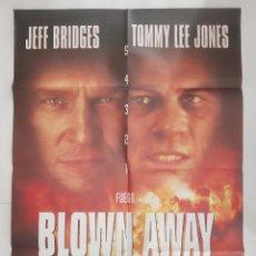 Cine: ANTIGUO CARTEL CINE VOLAR POR LOS AIRES TOMMY LEE JONES 1994 P103 RV. Lote 269937968