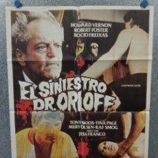 Cine: EL SINIESTRO DOCTOR ORLOFF. HOWARD VERNON, ANTONIO MAYANS. JESUS FRANCO. AÑO 1983. POSTER ORIGINAL. Lote 269939098