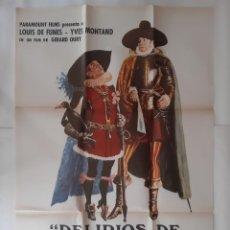 Cinema: ANTIGUO CARTEL CINE DELIRIOS DE GRANDEZA LOUIS DE FUNES P109 RV. Lote 269940618