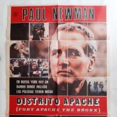 Cine: ANTIGUO CARTEL CINE DISTRITO APACHE PAUL NEWMAN 1981 P111 RV. Lote 269941773