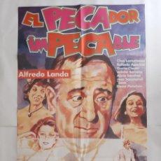Cinema: ANTIGUO CARTEL CINE EL PECADOR IMPECABLE QUETA CLAVER P113 RV. Lote 269942793
