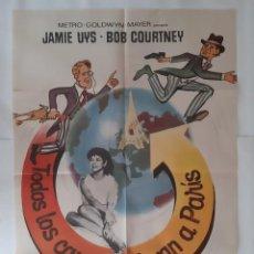 Cine: ANTIGUO DOBLE CARTEL CINE TODO LOS CAMINOS LLEGAN A PARIS 1973 P115 RV. Lote 269945588