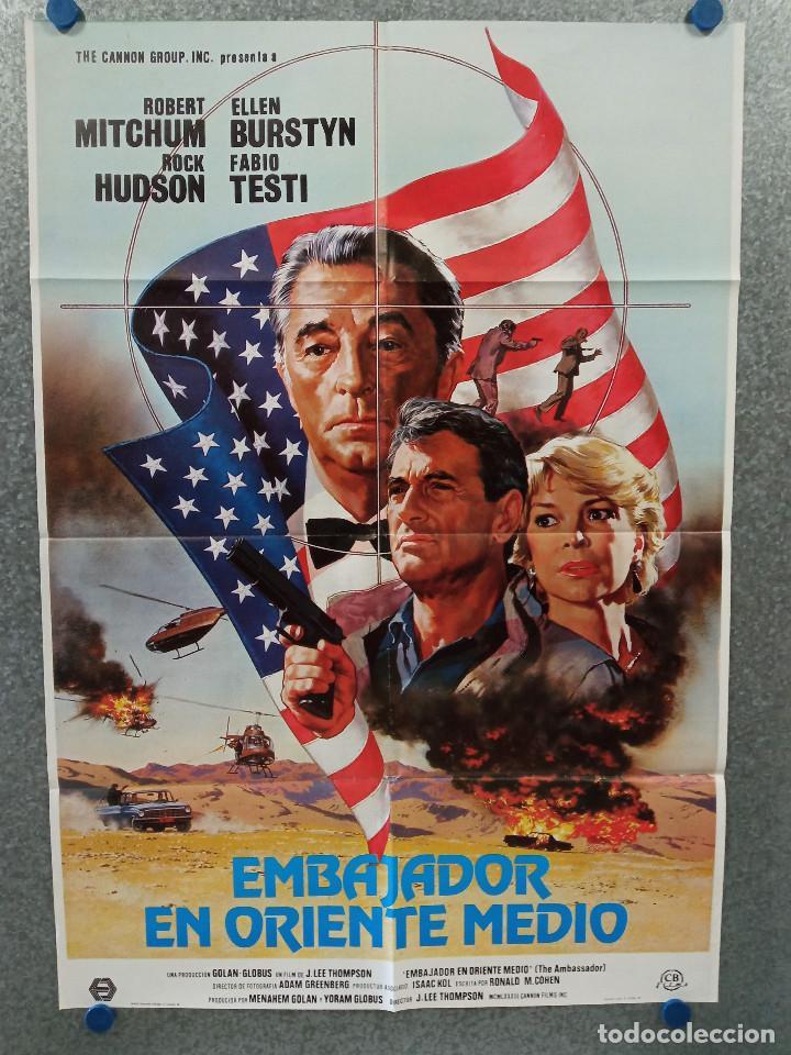 EMBAJADOR EN ORIENTE MEDIO. ROBERT MITCHUM, ROCK HUDSON. AÑO 1984. POSTER ORIGINAL (Cine - Posters y Carteles - Suspense)