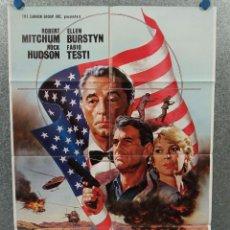 Cine: EMBAJADOR EN ORIENTE MEDIO. ROBERT MITCHUM, ROCK HUDSON. AÑO 1984. POSTER ORIGINAL. Lote 269948433