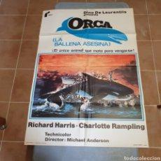 Cine: CARTEL ORIGINAL DE ORCA(LA BALLENA ASESINA), 1978, 100 X 70 CM. PLEGADO.. Lote 270251138
