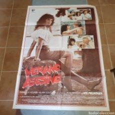Cine: CARTEL ORIGINAL DE VERANO ASESINO, 1983, 100 X 70 CM, PLEGADO.. Lote 270252008