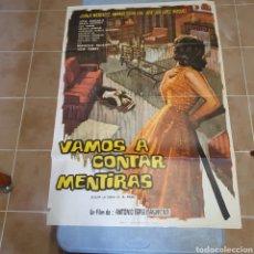 Cine: CARTEL ORIGINAL DE VAMOS A CONTAR MENTIDAS, 1971, 100 X 70 CM, PLEGADO.. Lote 270255033