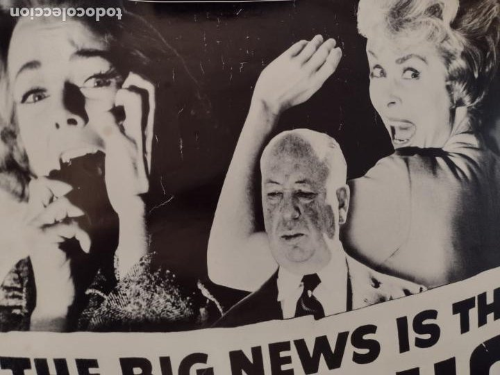 Cine: POSTER PSICOSIS-THE BIG NEWS IS THAT PSYCHO IS HITCHCOCK´S GREATEST CHILLER! - 88X62 CMS - Foto 2 - 270392418