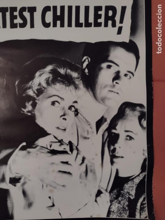 Cine: POSTER PSICOSIS-THE BIG NEWS IS THAT PSYCHO IS HITCHCOCK´S GREATEST CHILLER! - 88X62 CMS - Foto 4 - 270392418
