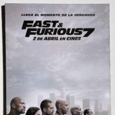 Cine: CUADRO DE LA PELÍCULA FAST AND FURIOUS 7. Lote 270519683