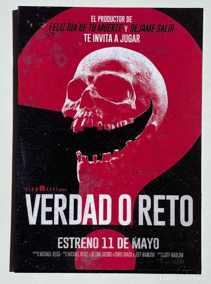 CUADRO DE LA PELÍCULA VERDAD O RETO (Cine - Posters y Carteles - Suspense)