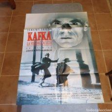 Cine: CARTEL ORIGINAL, KAFKA LA VERDAD OCULTA, 1993, 95 X 67 CM, PLEGADO.. Lote 270574033