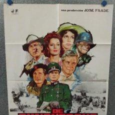 Cine: DE DUNQUERQUE A LA VICTORIA. GEORGE PEPPARD, UMBERTO LENZI CAPUCINE. AÑO 1979 POSTER ORIGINAL. Lote 270616963