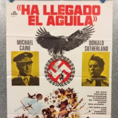 Cine: HA LLEGADO EL ÁGUILA. MICHAEL CAINE, DONALD SUTHERLAND, ROBERT DUVALL. AÑO 1977. POSTER ORIGINAL. Lote 270678723