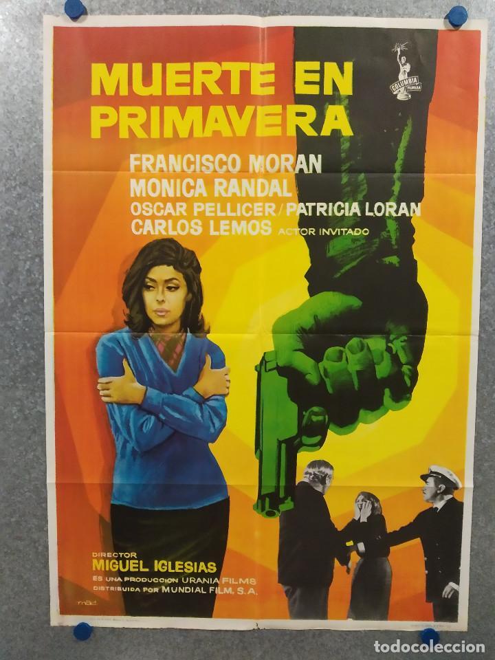 MUERTE EN PRIMAVERA. MONICA RANDAL, FRANCISCO MORAN. AÑO 1973 POSTER ORIGINAL (Cine - Posters y Carteles - Suspense)